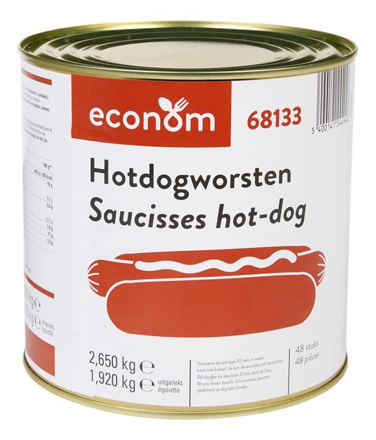 Hotdogworsten 48st 1,92kg