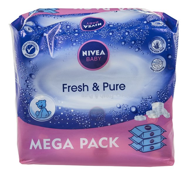 Babydoekjes fresh & pure mega 63stx3