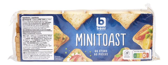 Mini-toasts 60p 120g