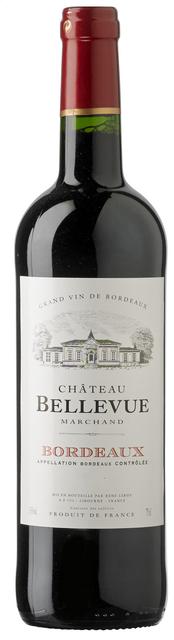 Ch.Bellevue Bordeaux QFE 75cl houten kist