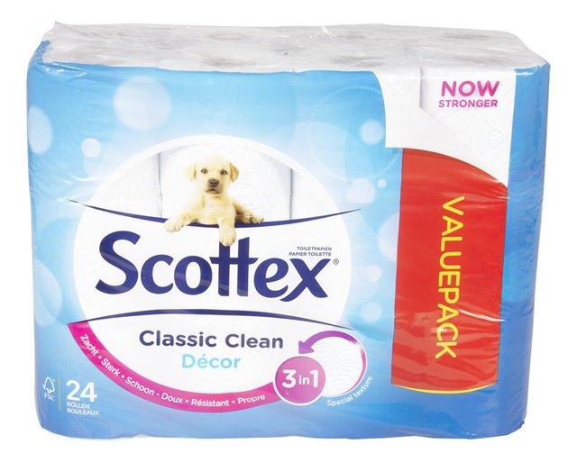 Toiletpapier Classic clean décor 2l 140v 24rollen