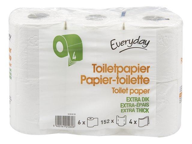 Toiletpapier 4 lagen 152v 6 rollen