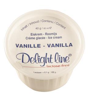 Pot de glace vanille sans lactose 80mlx36