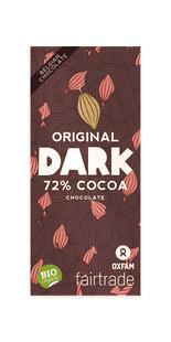 Chocolat noir 72% cacao BIO Fairtrade 100g