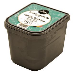 Vanille bourbon crème glacée 2,5L
