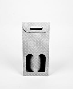 Flesdoos 18x9x38cm 2 flessen grijs