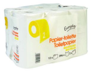 Toiletpapier maxi 2lagen 396v 12rollen