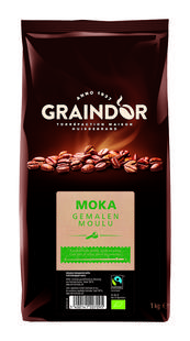 Gemalen koffie mokka BIO Fairtrade 1kg