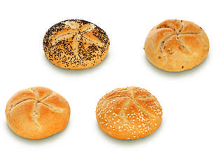 Mini keizerbroodje assortiment (MB6) 32gx100