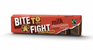 Chocolat au lait Fairtrade Bite To Fight 50g