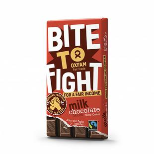 Chocolat lait Fairtrade Bite To Fight 200g